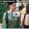 Learning to Speak Spanish Video